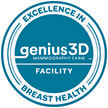 Excellence in Breast Health seal noting that KDH is a Genius 3D Mammography Exam facility.
