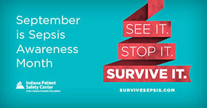 Graphic that says September is Sepsis Awareness Month