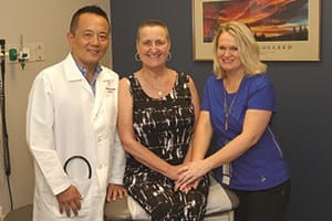 Dr. Wang, Roseann Dzurko and Angela Ullrich, R.N.