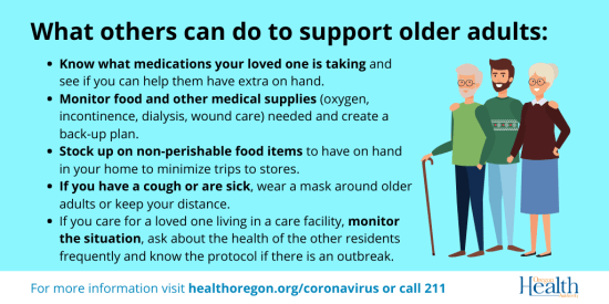COVID-19 What other can do to support older adults