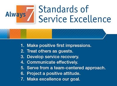 7 Standards of Service Excellence