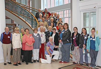 Volunteers at the luncheon pose for a picture at the Hanover College Science Center as part of the Volunteer Luncheon on April 24, 2018.