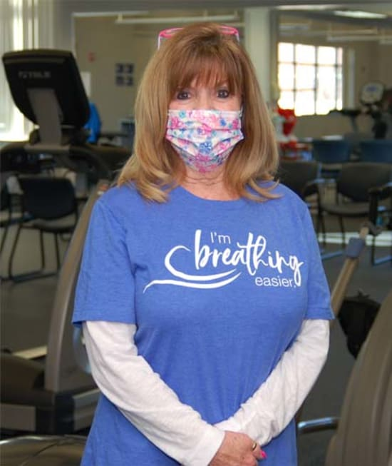 Marsha Hoft is glad she attends pulmonary rehabilitation at Lake Regional Health System because she has noticed an improvement in her breathing and ability to perform daily activities.
