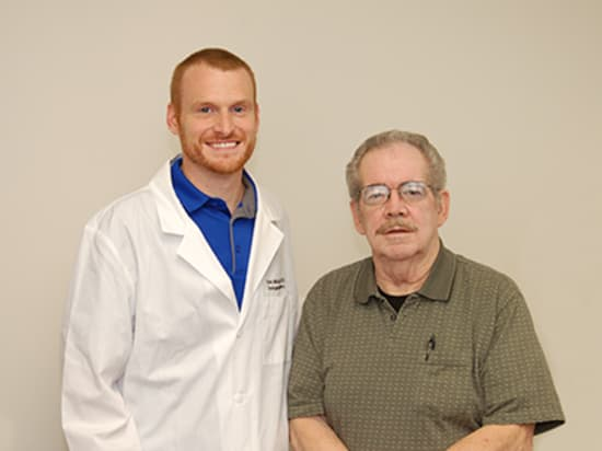Lake Regional Urologist Eric McQueary, M.D., and Skip Thomas