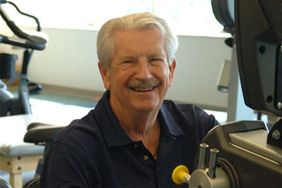 Bill Washburn keeps fit at Lake Regional Cardiopulmonary Rehabilitation.