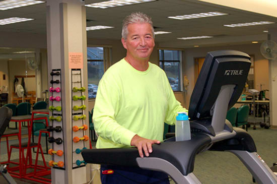 David Miller is committed to improving his heart health through cardiac rehab.