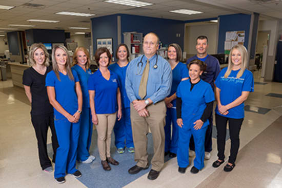 Stroke care at Lake Regional Health System is provided by a multidisciplinary team that includes a board-certified neurologist, specially trained emergency physicians and nurses, diagnostic imaging technicians, and rehabilitation therapy providers.