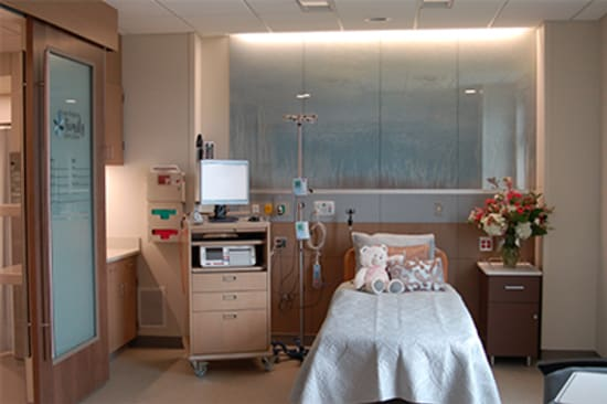 Inside one of the new Lake Regional Family Birth Center patient suites.