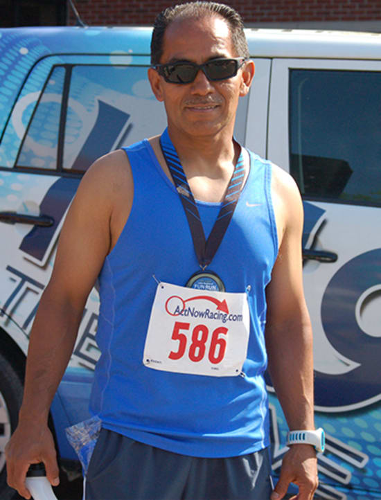 Nigher Alfaro (20:57) was the overall winner in the men's division.