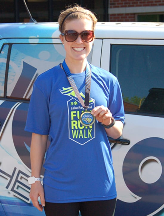 Cierra Hiland (23:31) was the overall winner in the women's division.