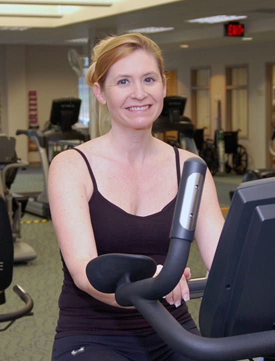 After surviving a heart attack, 39-year-old Jeslyn Schillinger is thankful for the local cardiac rehab program at Lake Regional.