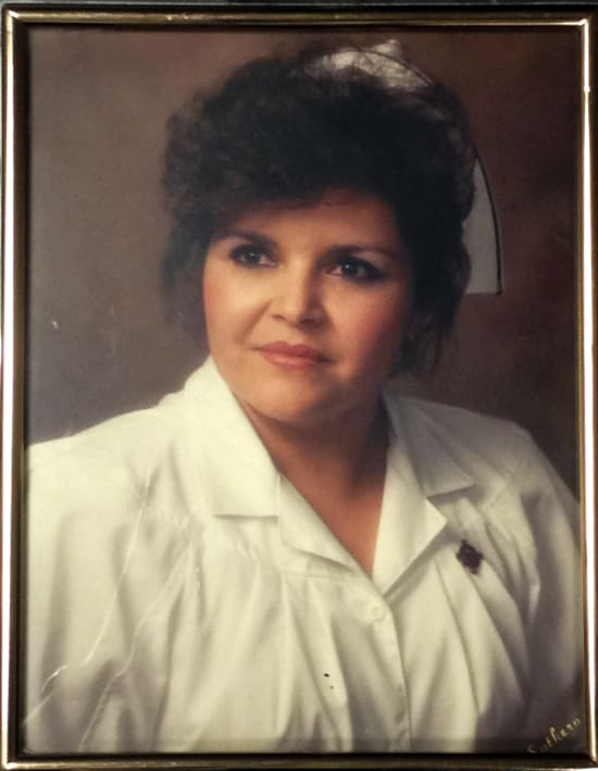 Patti Muxlow graduating nursing school in 1989
