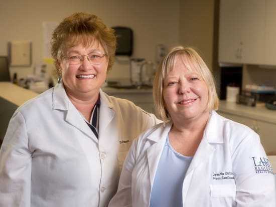 Pauline Abbott, D.O., MPH, CIME, and Jeannie Carlton, APRN-BC, provide occupational medicine services in Osage Beach and now in Lebanon.