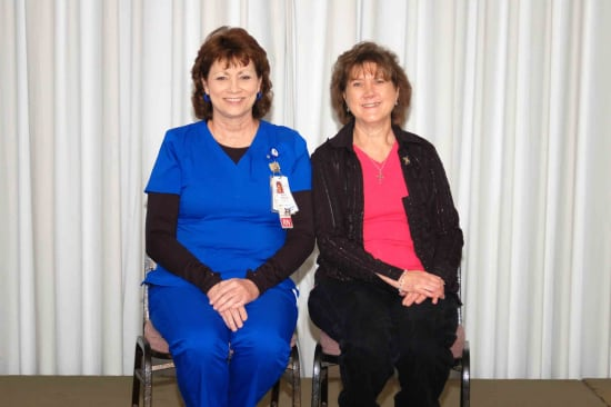 Recipients of the Lake Regional Service Recognition Award for 35 years of continuous service were Kelly Phillips and Georgeann Davis.
