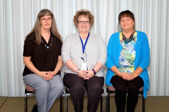 Recipients of the Lake Regional Service Recognition Award for 30 years of continuous service were Cindy Kirschke, Patricia Franks and Charlotte Austin.