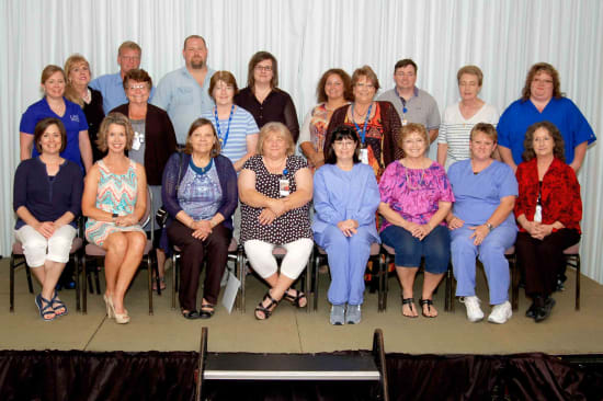 Recipients of the Lake Regional Service Recognition Award for 15 years of continuous service.