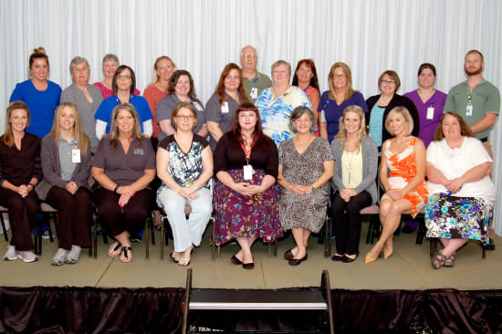 Recipients of the Lake Regional Service Recognition Award for 5 years of continuous service.