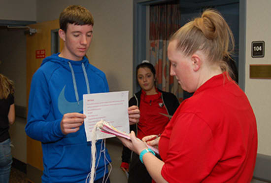 Each mock patient received a role play scenario detailing their character's age, gender and injuries, and Lake Regional Emergency Department staff used this information to determine their treatment.