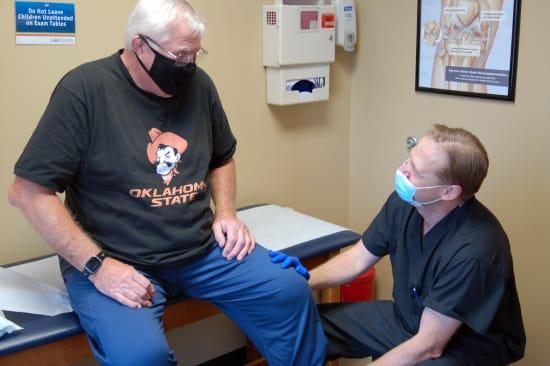Lake Regional Orthopedic Surgeon Ryan Morris, D.O. and Daniel Patitz.