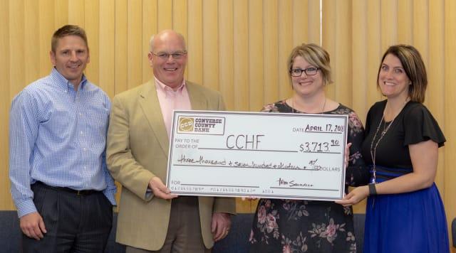 Converse County Hospital Foundation nursing scholarship large novelty check