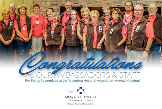 Congratulations to our ambassadors & staff for being recognized at the Wyoming Hospital Association Annual Meeting!
