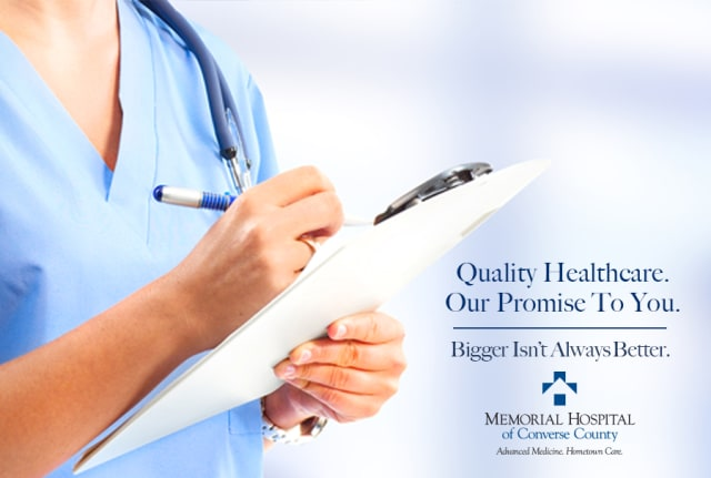 Quality healthcare. Our promise to you. Bigger isn't always better.