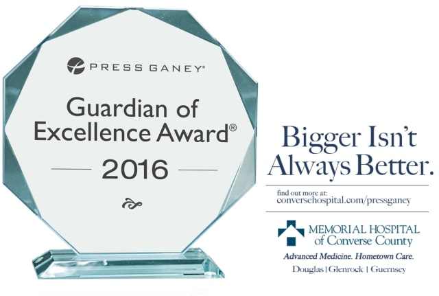Press Ganey Guardian of Excellence Award 2016. Bigger isn't always better. Find out more at conversehospital.com/pressganey