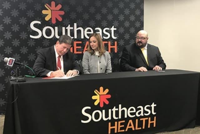Behavioral health hospital signing