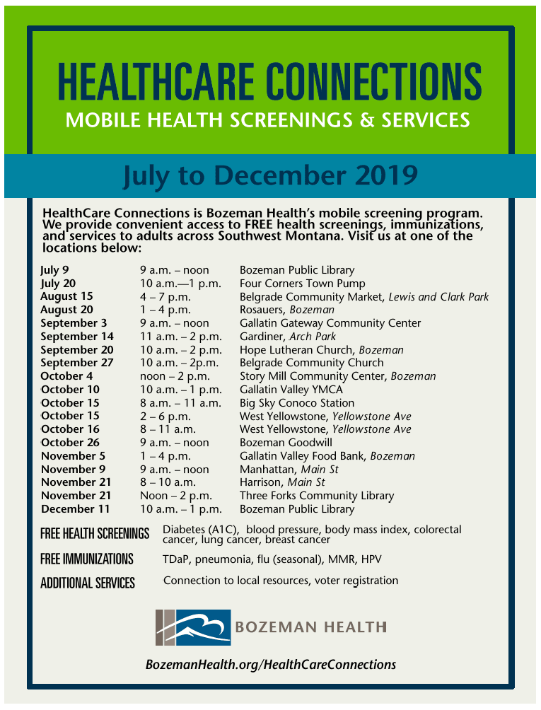 HealthCare Connections Schedule