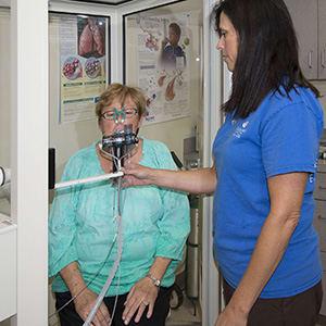 Patient breathing through oxygen tube | Pulmonology
