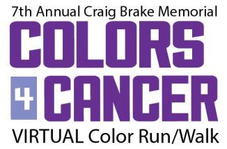 7th Annual Craig Brake Memorial Colors 4 Cancer Virtual Color Run/Walk
