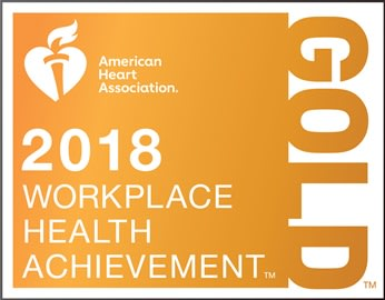 AHA 2018 Workplace Health Achievement - Gold award
