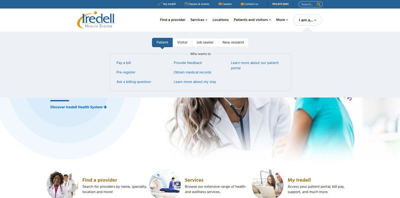 Iredell Health key user groups