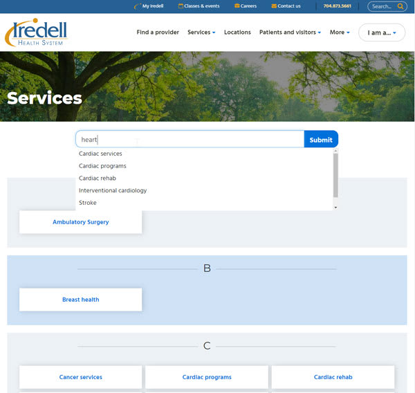 Iredell Health Simplified Search