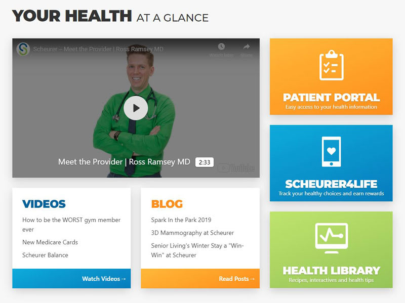 Scheurer Patient-centered homepage