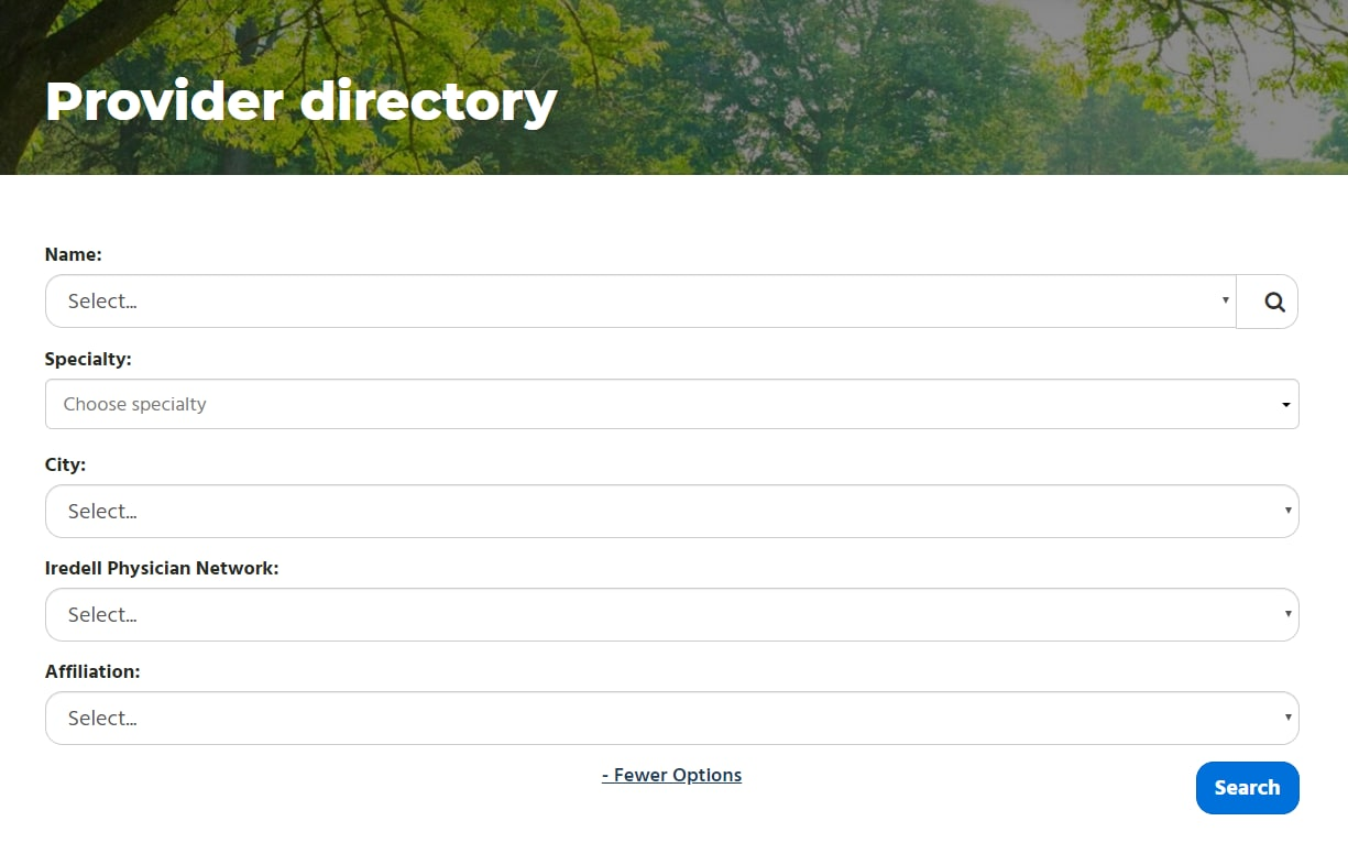 Iredell provider directory