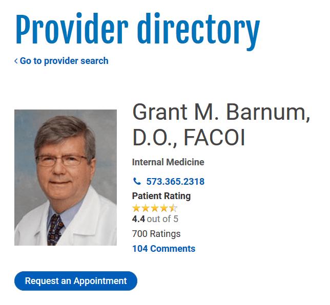 Lake Regional Health System Provider directory