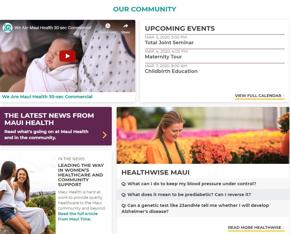 Maui home page
