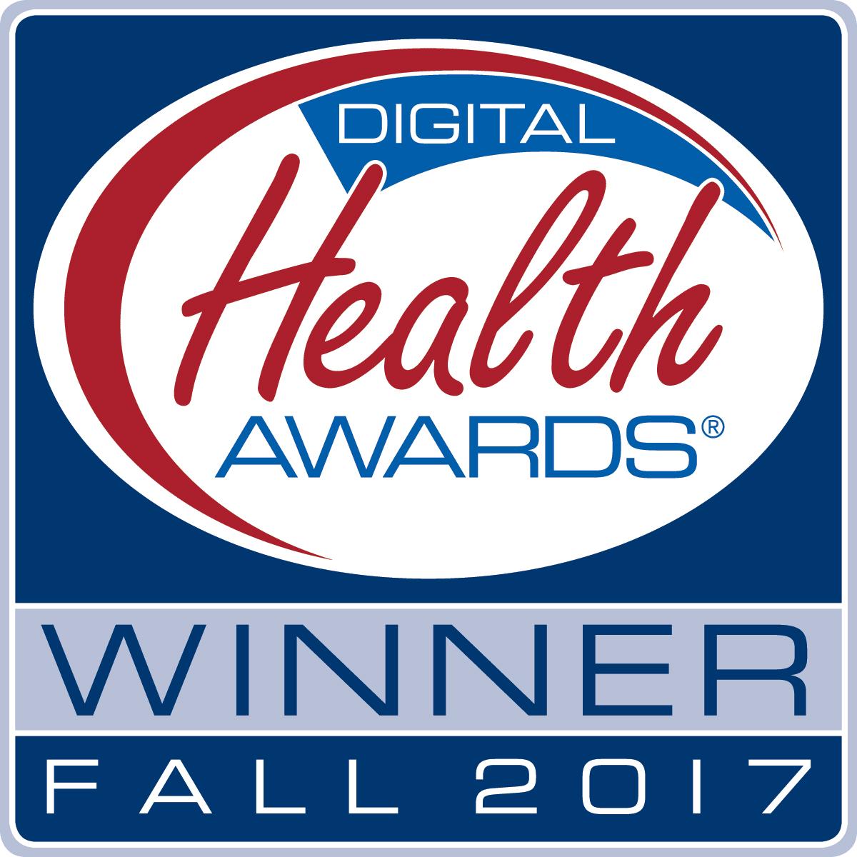 Digital Health Awards Winner Fall 2017