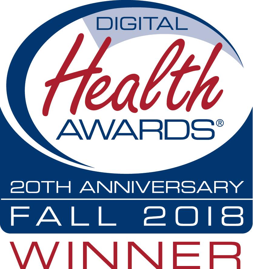 Digital Health Awards 20th Anniversary Fall 2018 Winner
