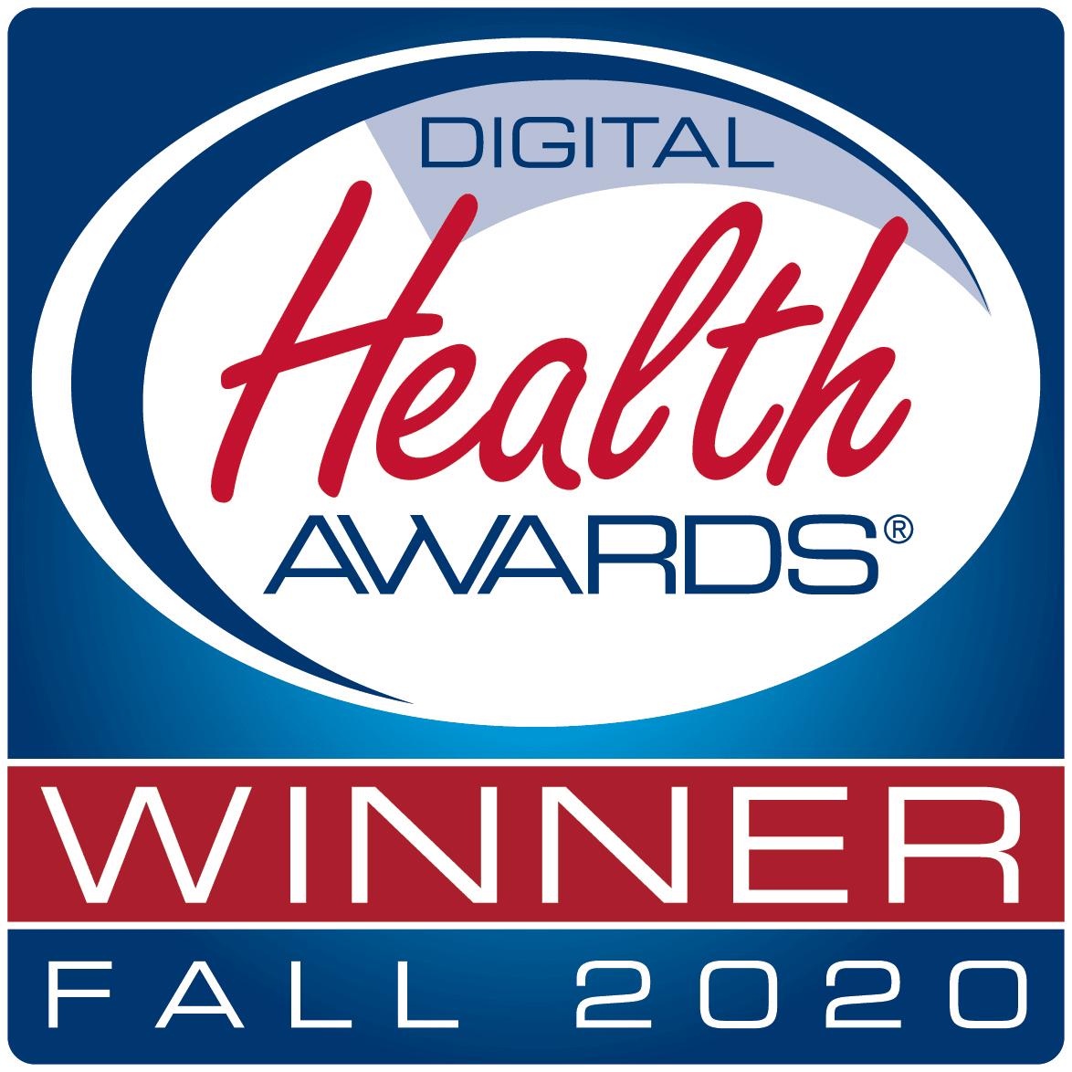 Digital Health Awards Winner Fall 2020