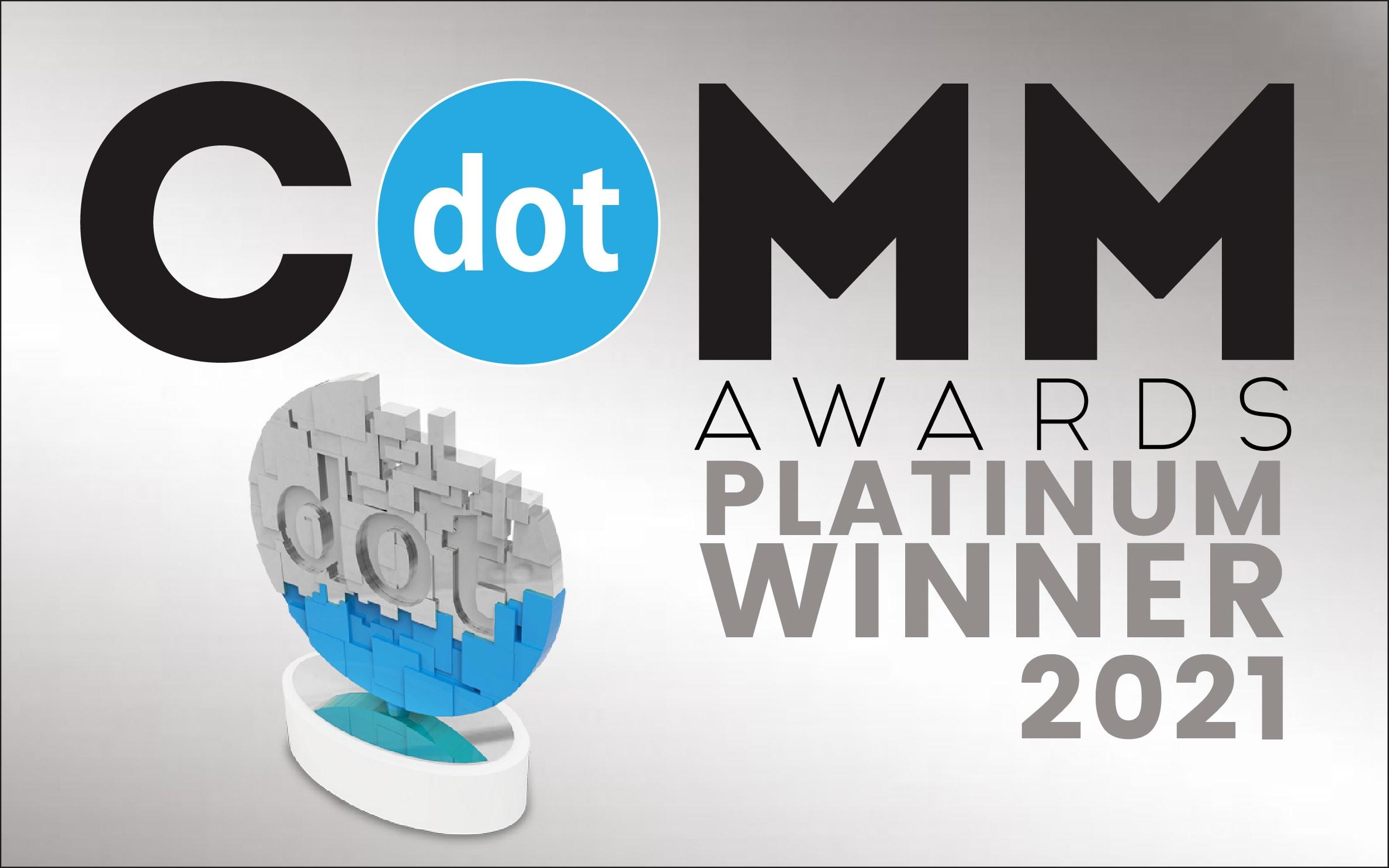 dotCOMM Awards Platinum Winner 2021