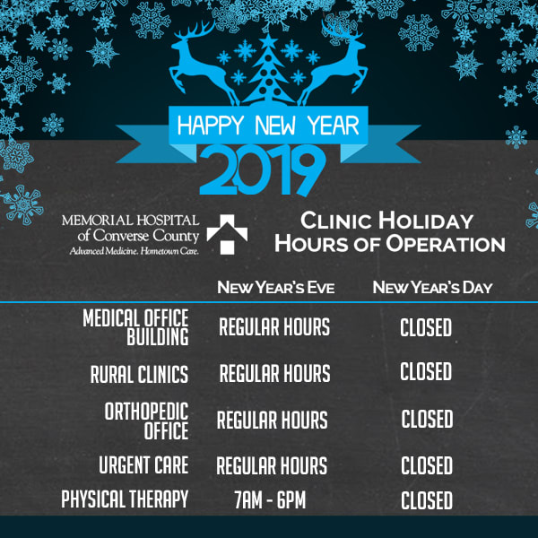2019 New Year's day hours