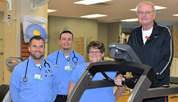 Ron Jones Cardiac Rehab Supervised Exercise Treatment For PAD At Crossing Rivers Health In Prairie Du Chien Wisconsin