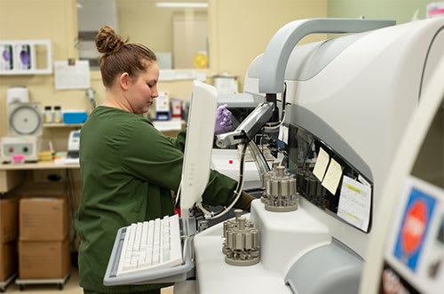 Lab services at Crossing Rivers Health