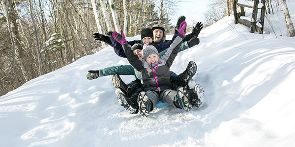 Sledding as exercise from Crossing Rivers Health Clinic in Fennimore and Prairie du Chien Wisconsin