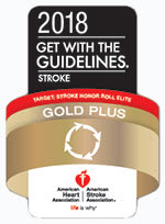 American Heart Association Stoke Gold Plus award logo
