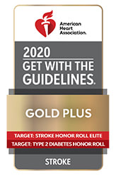 AHA Get with the Guidelines Gold Plus Award Recepeient
