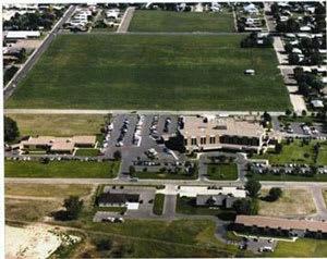 1986 hospital aerial shot