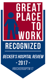 Great Place to Work Recognized Becker's Hospital Review 2017 #BeckersGPTW17